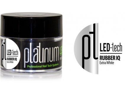 Platinum PLATINUM LED-tech RUBBER IQ Extra White, 40g - Gel rất đàn hồ màu trắng phù hợp cho móng là