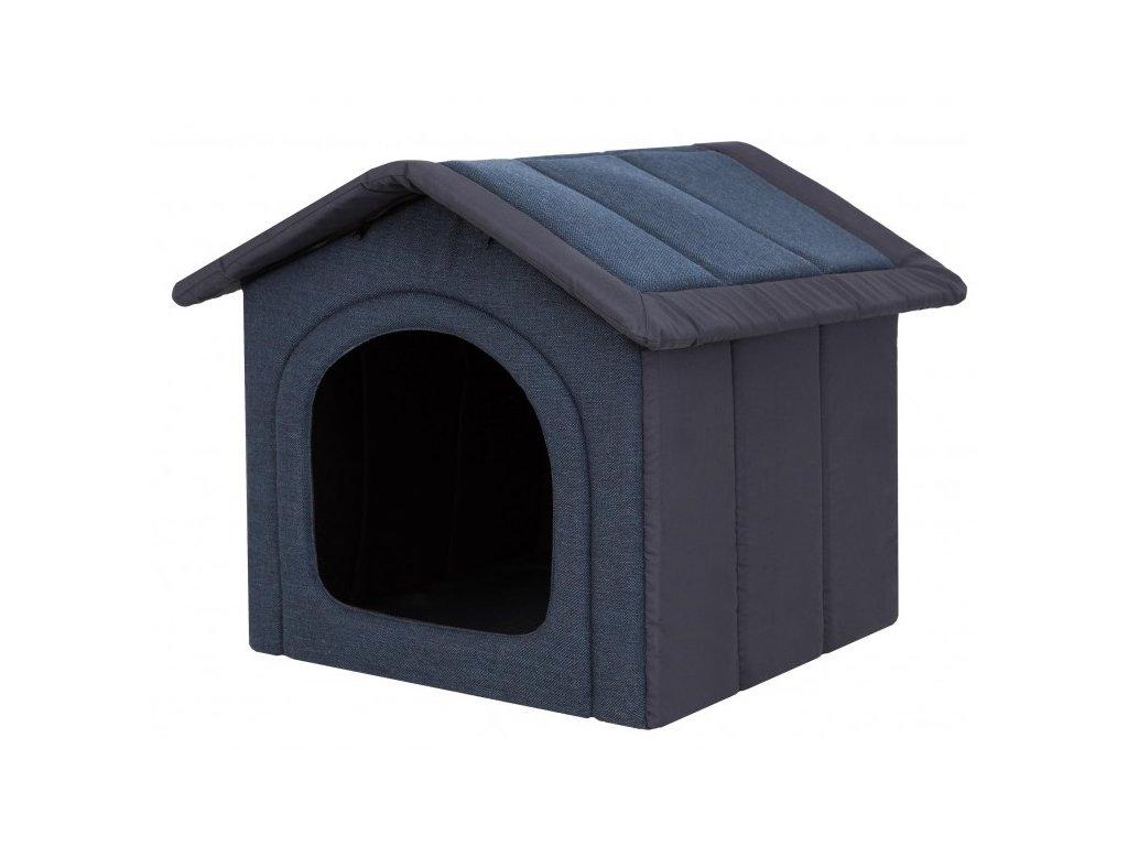 Látková bouda pro psa - granátová