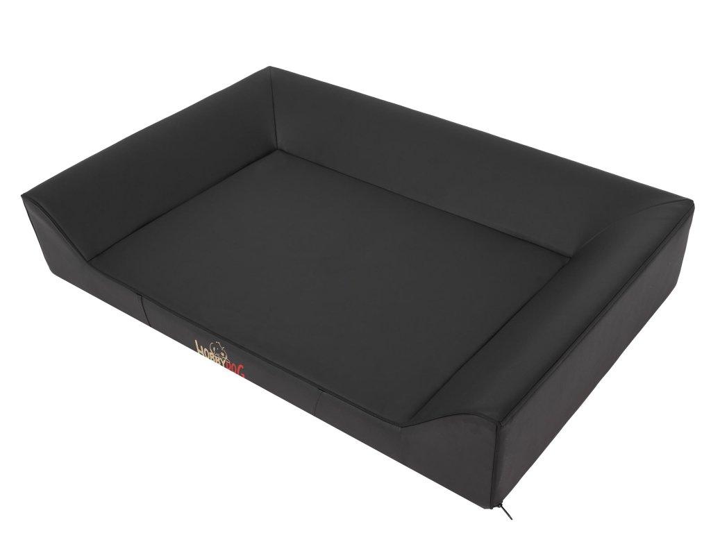 Pelíšek pro psa Soft Lux - černý