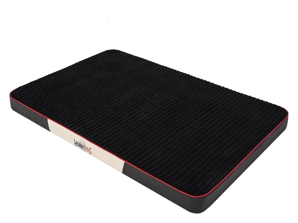 Ortopedická matrace pro psa Premium Manšestr - černá