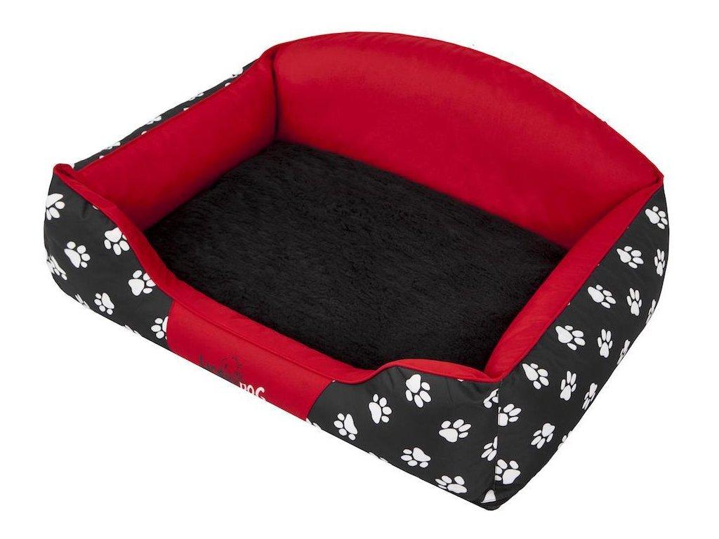Pelíšek pro psa Royal Exclusive červená koruna 1