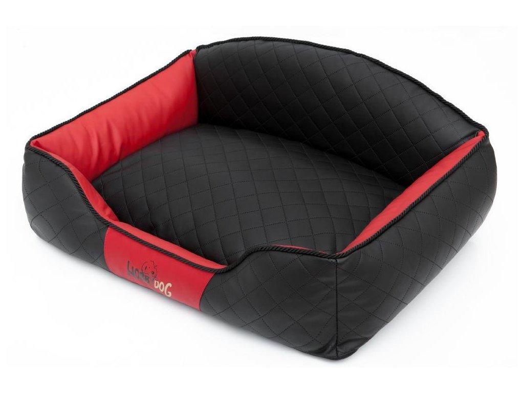 Pelíšek pro psa Elite černý a červené boky1