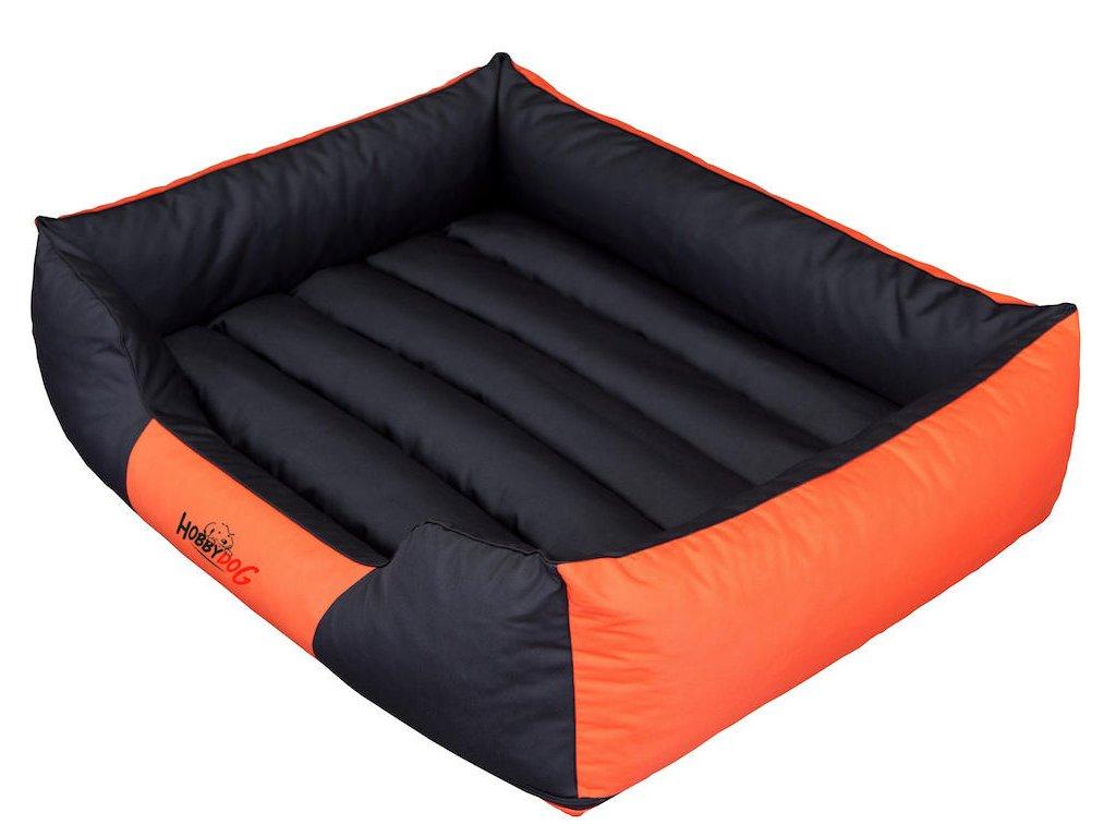Pelíšek pro psa Comfort oranžový s černou1