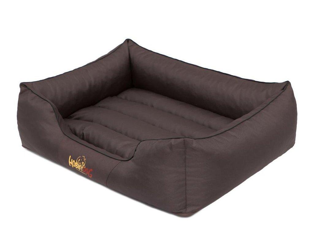 Pelíšek pro psa Comfort tmavě hnědý1