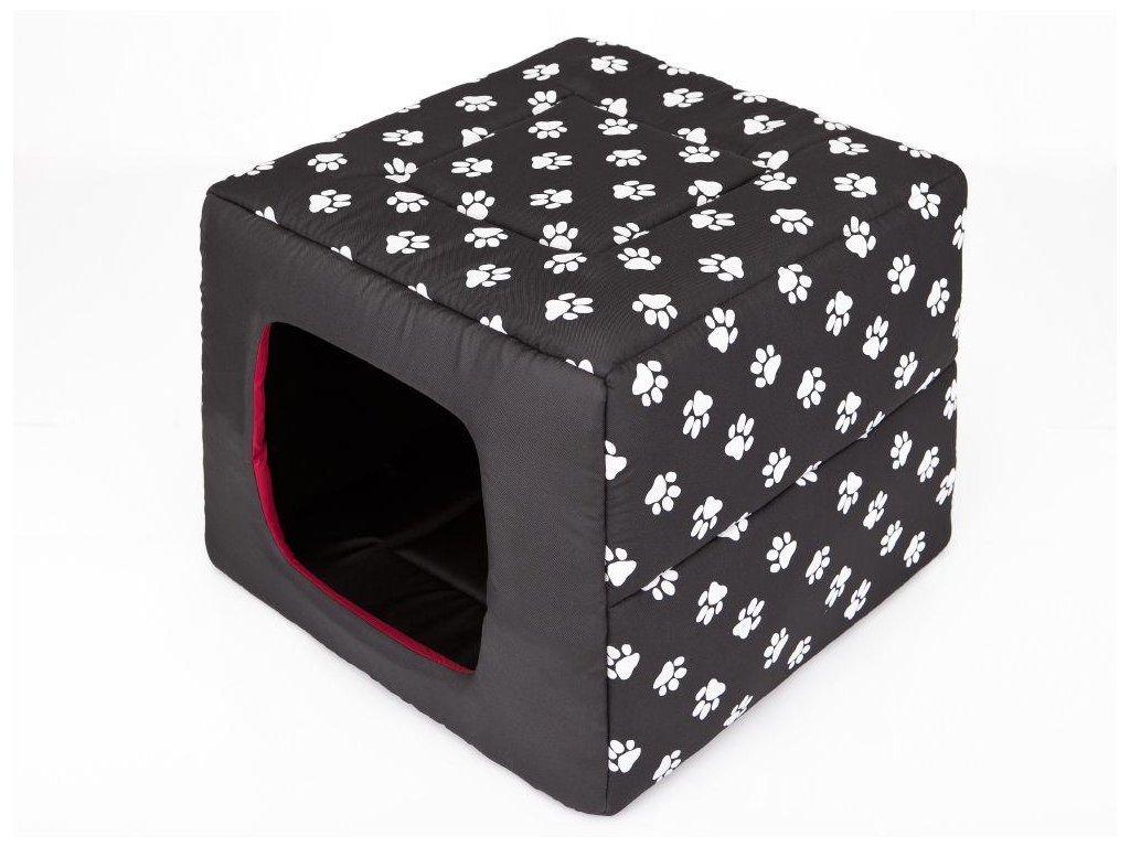 Pelíšek pro psa Butterfly černý packy3