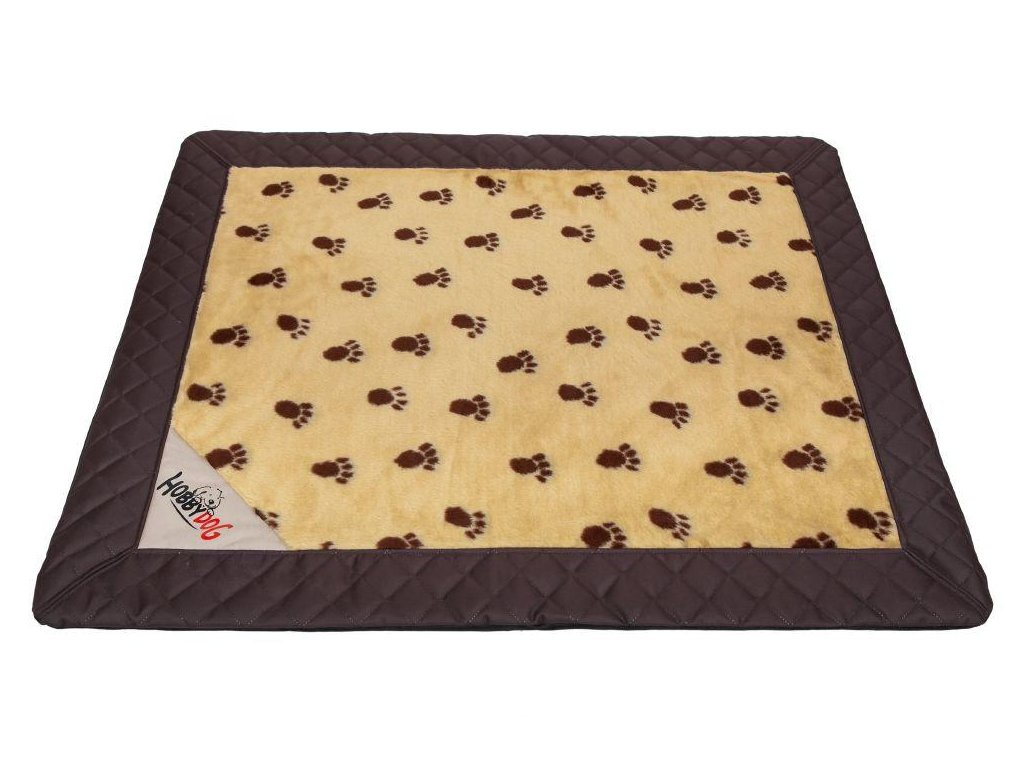Matrace pro psa Exclusive hnědá s béžovou a packy1