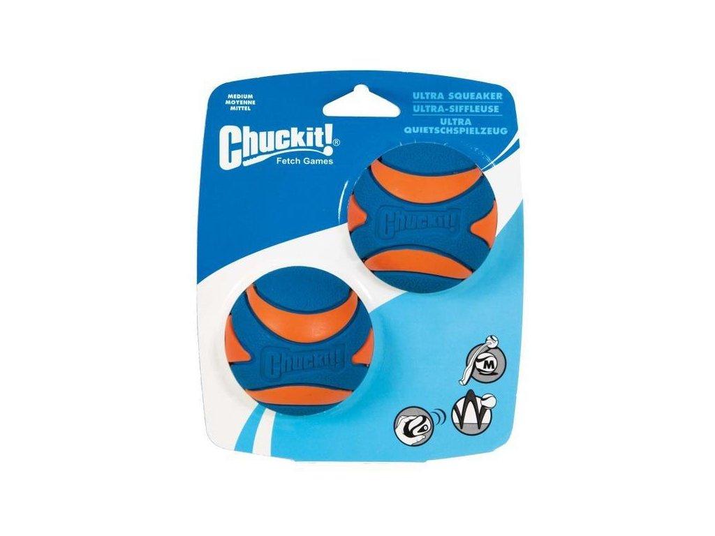 Míček Ultra Squeaker Ball Medium 6,5 cm 2 na kartě