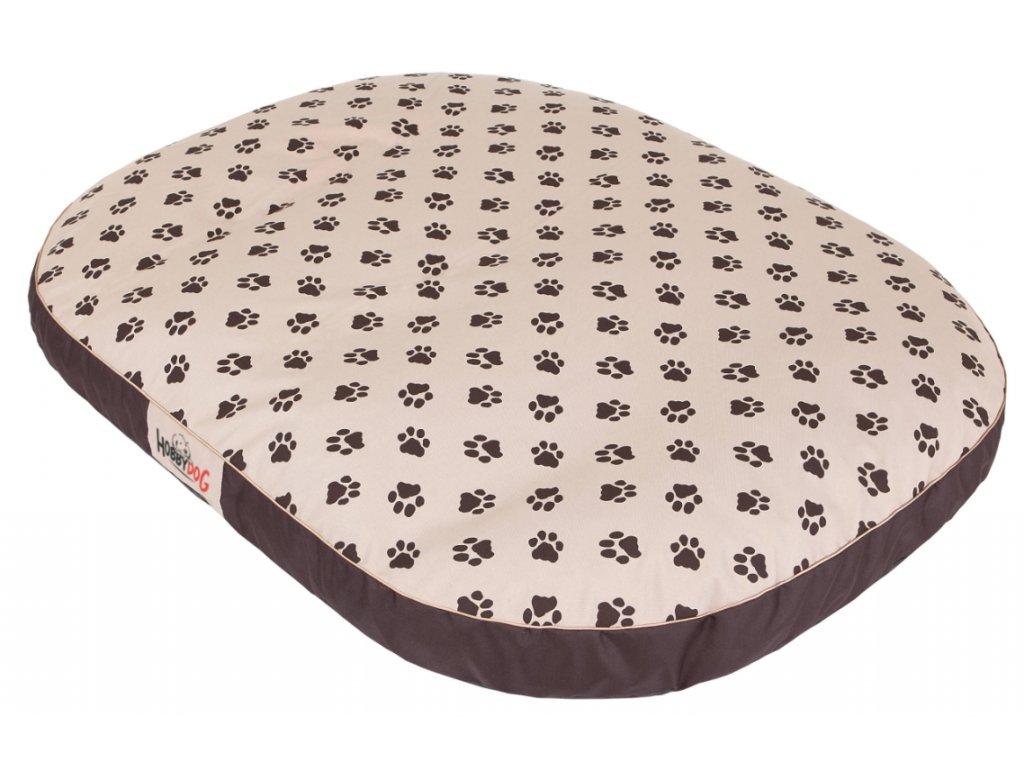 1 Matrace pro psa Ovál béžová packy