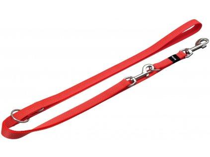 Přepínací nylonové vodítko na psa reflex oranžové