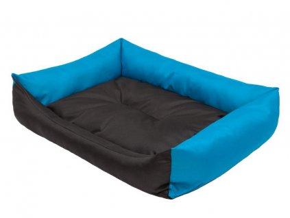 Pelíšek pro psa Economy černý s modrou1