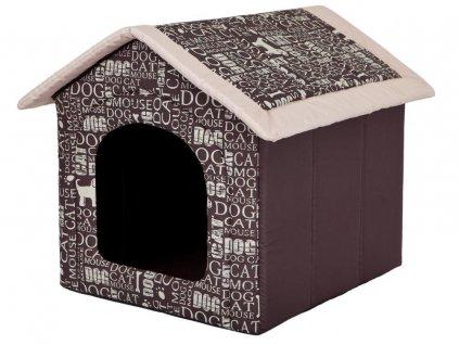Pelíšek pro psa Bouda nápisy1