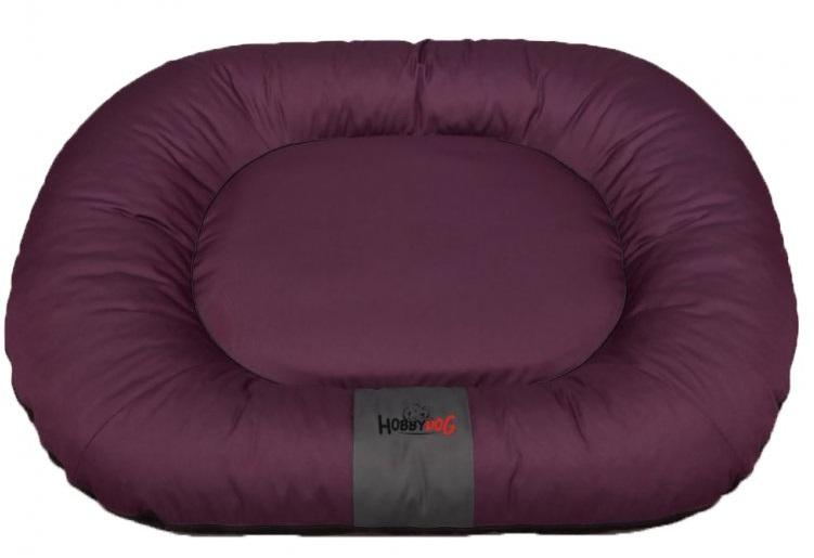 HobbyDog Ponton oválný Comfort - bordó Velikost: L - 65 x 90 x 15 cm