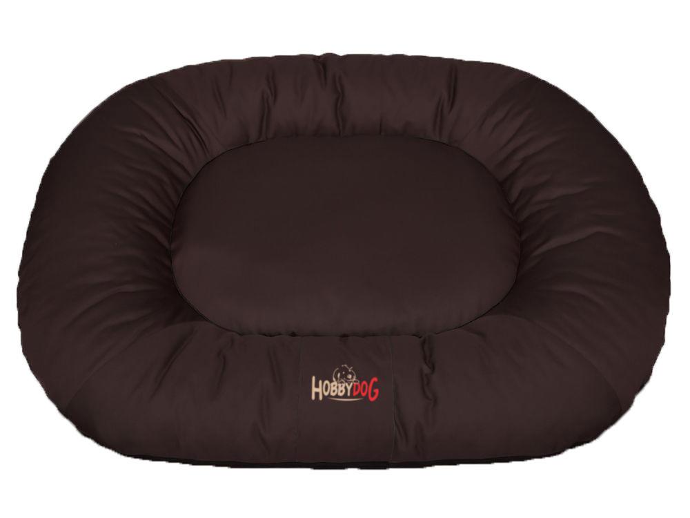 HobbyDog Ponton oválný Comfort - hnědý Velikost: L - 65 x 90 x 15 cm