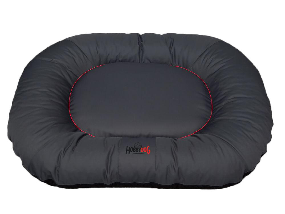 HobbyDog Ponton oválný Comfort - šedý Velikost: L - 65 x 90 x 15 cm