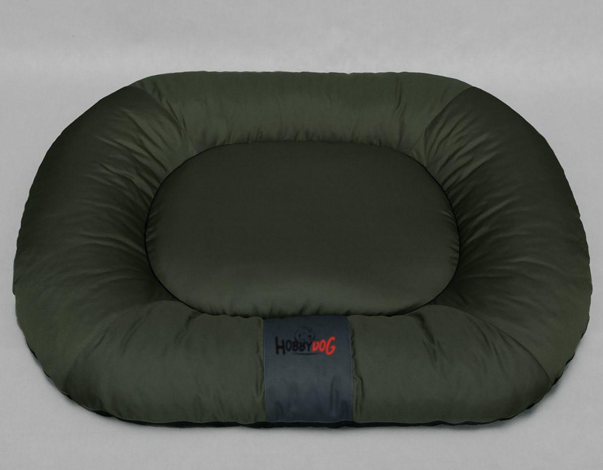 HobbyDog Ponton oválný Comfort - zelený Velikost: L - 65 x 90 x 15 cm