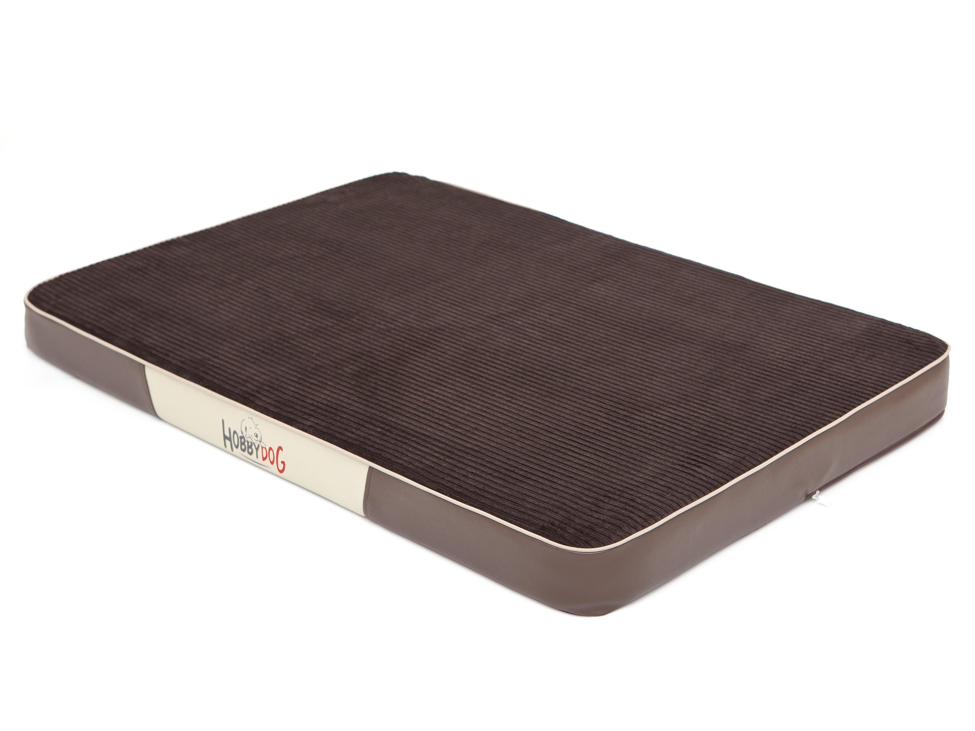 HobbyDog Ortopedická matrace pro psa Premium Manšestr - hnědá Velikost: L - 100 x 67 x 8 cm