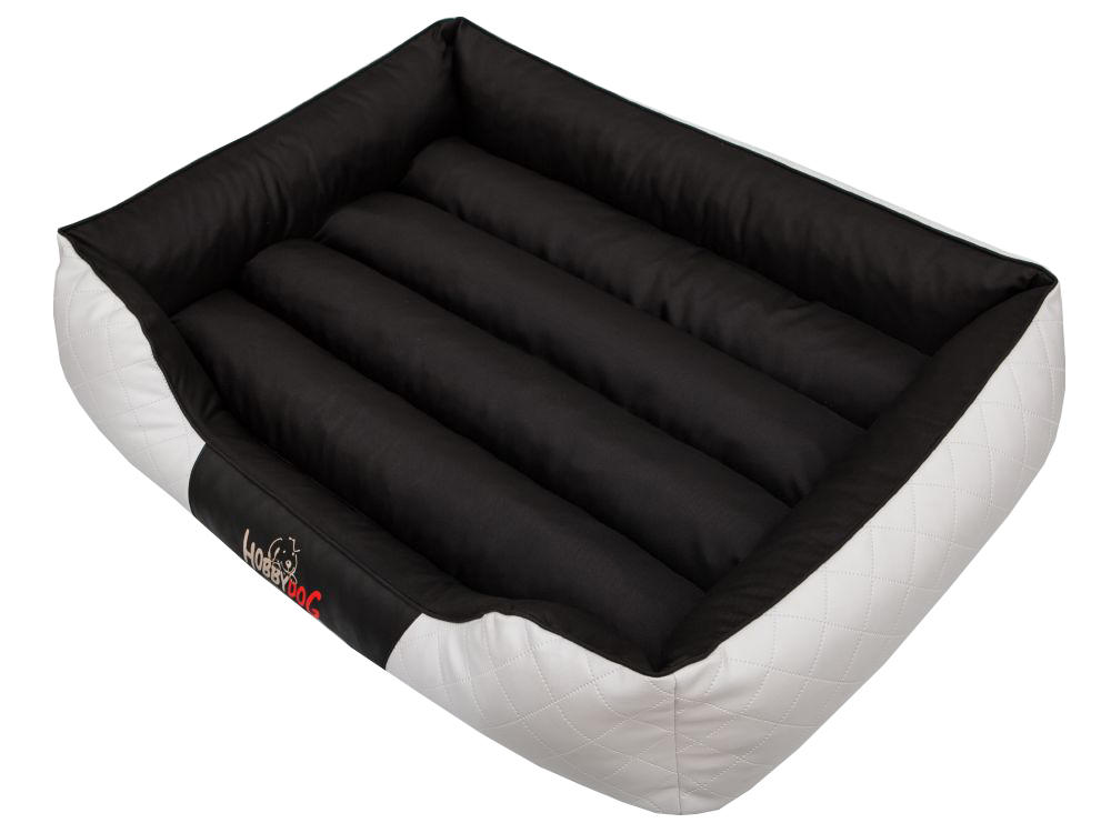 HobbyDog Pelíšek pro psa Cesar Standard - černý s bílou Velikost: R3 - 95x73 cm (65x47 cm)