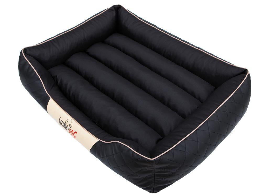 HobbyDog Pelíšek pro psa Cesar Standard - černý a béžový lem Velikost: R1 - 65x52 cm (41x31 cm)