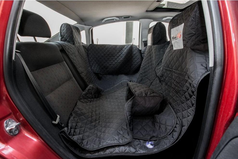 HobbyDog Ochranný potah na sedačky do auta - černý Velikost: 140 / 160 cm