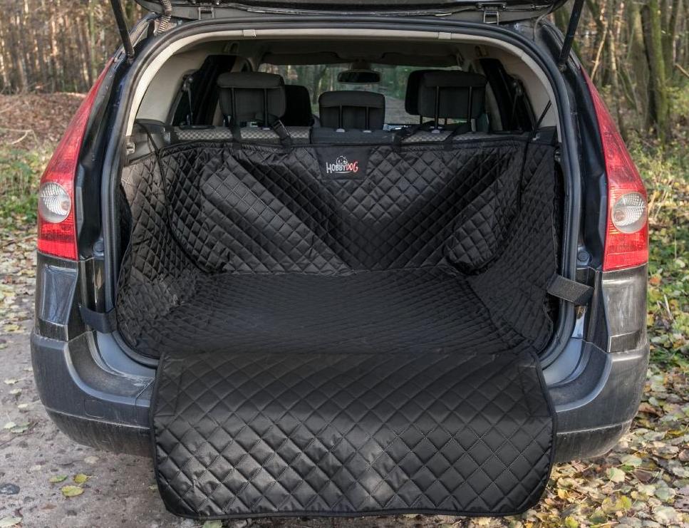 HobbyDog Ochranný potah kufru do auta - černý, max. rozměr 110 x 100 cm