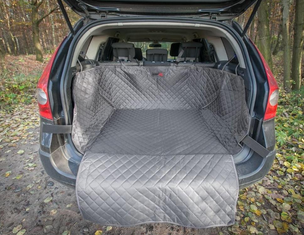 HobbyDog Ochranný potah kufru do auta - šedý, max. rozměr 110 x 100 cm