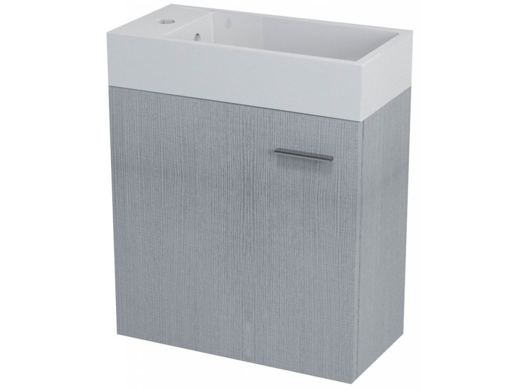 LATUS IV umyvadlová skříňka 49,5x50x25cm, dub stříbrný