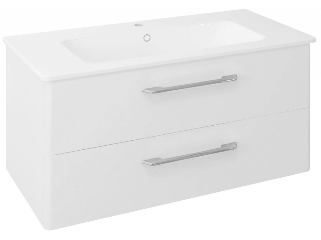 PURA umyvadlová skříňka 96,6x50,5x48,5cm, bílá