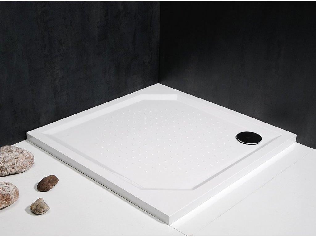 ANETA80 sprchová vanička z litého mramoru, čtverec 80x80x4cm    Sleva 13%
