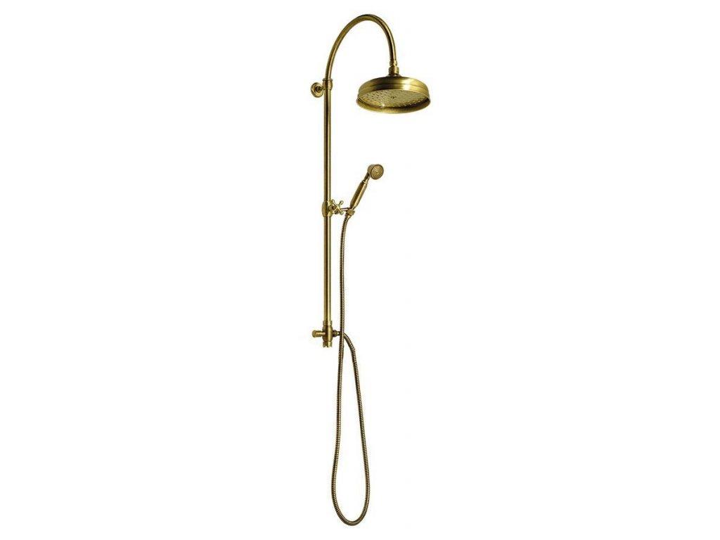 ANTEA sprchový sloup k napojení na baterii, hlavová a ruční sprcha, bronz