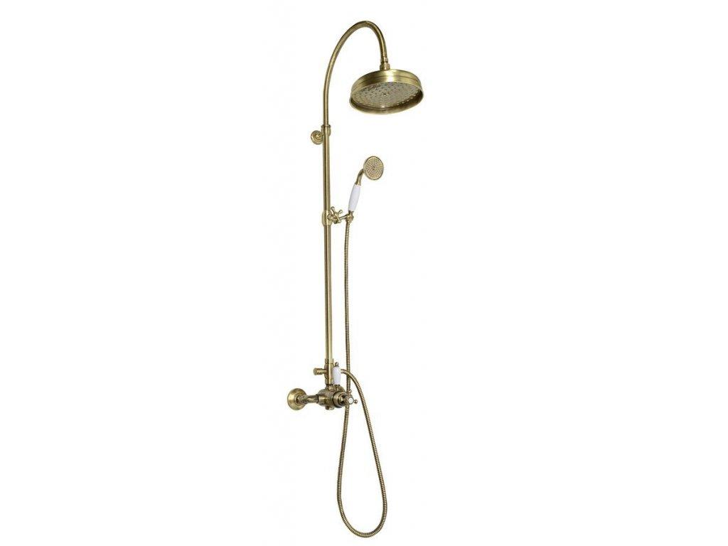 ANTEA sprchový sloup s termostatickou baterií, bronz