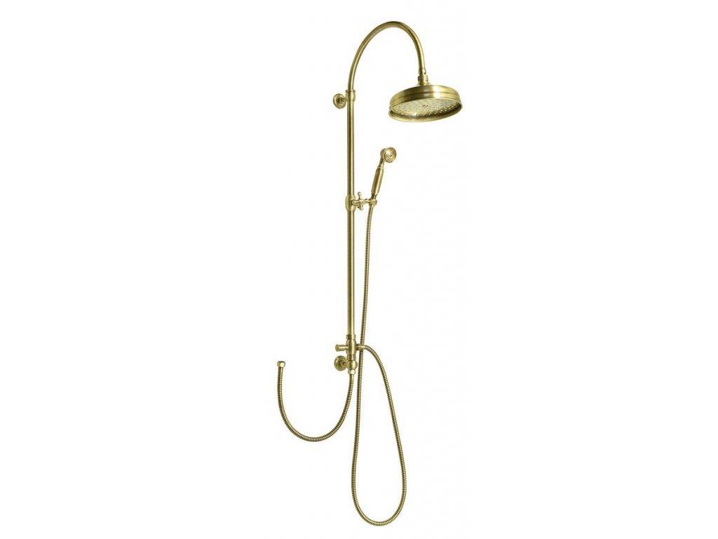 VANITY sprchový sloup k napojení na baterii, retro, bronz
