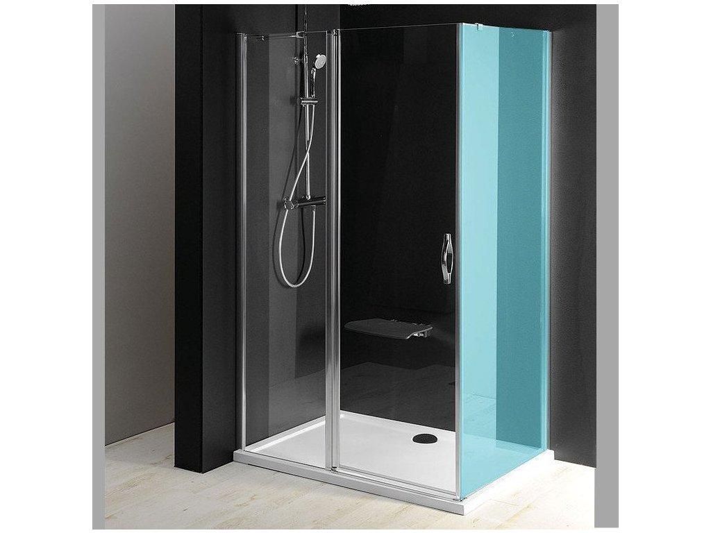 ONE sprchové dveře s pevnou částí 1200 mm, čiré sklo