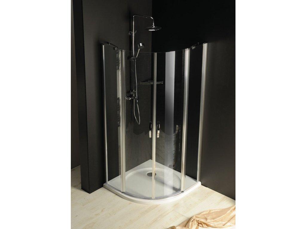 ONE čtvrtkruhová sprchová zástěna 800x800 mm, čiré sklo