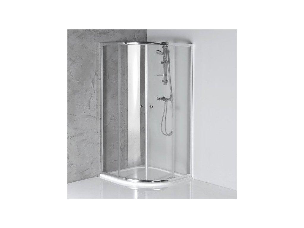 ARLETA čtvrtkruhová sprchová zástěna 900x900mm, čiré sklo