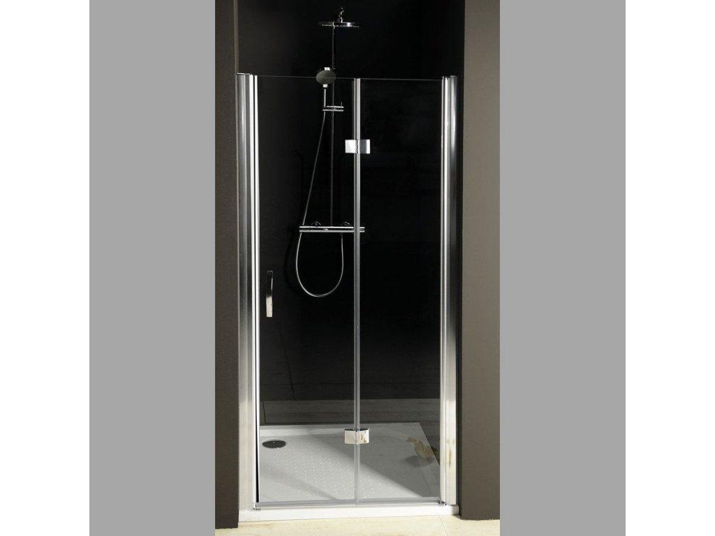 ONE sprchové dveře skládací 900 mm, levé, čiré sklo