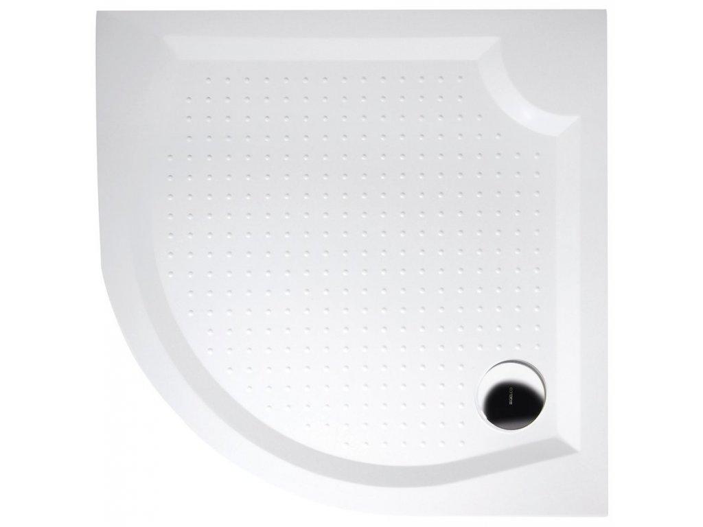 VIVA90 sprchová vanička z litého mramoru, čtvrtkruh, 90x90x4cm, R550