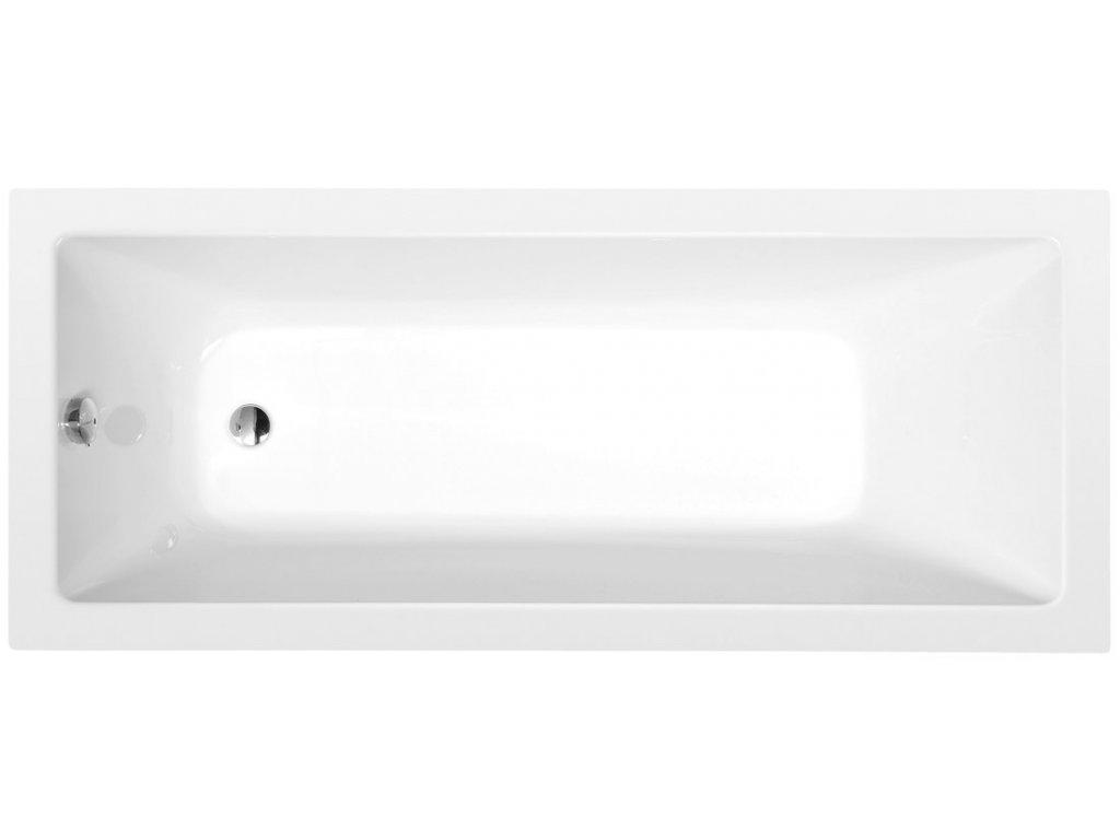 NOEMI obdélníková vana 160x70x39cm, bílá