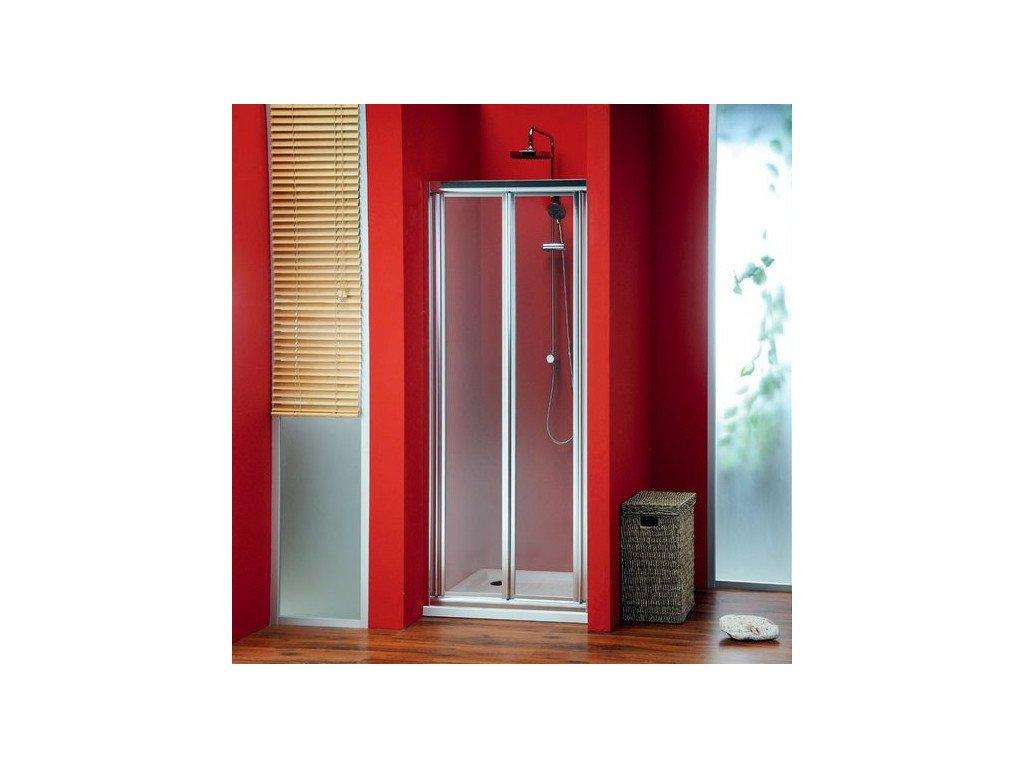 SIGMA sprchové dveře skládací 900 mm, čiré sklo