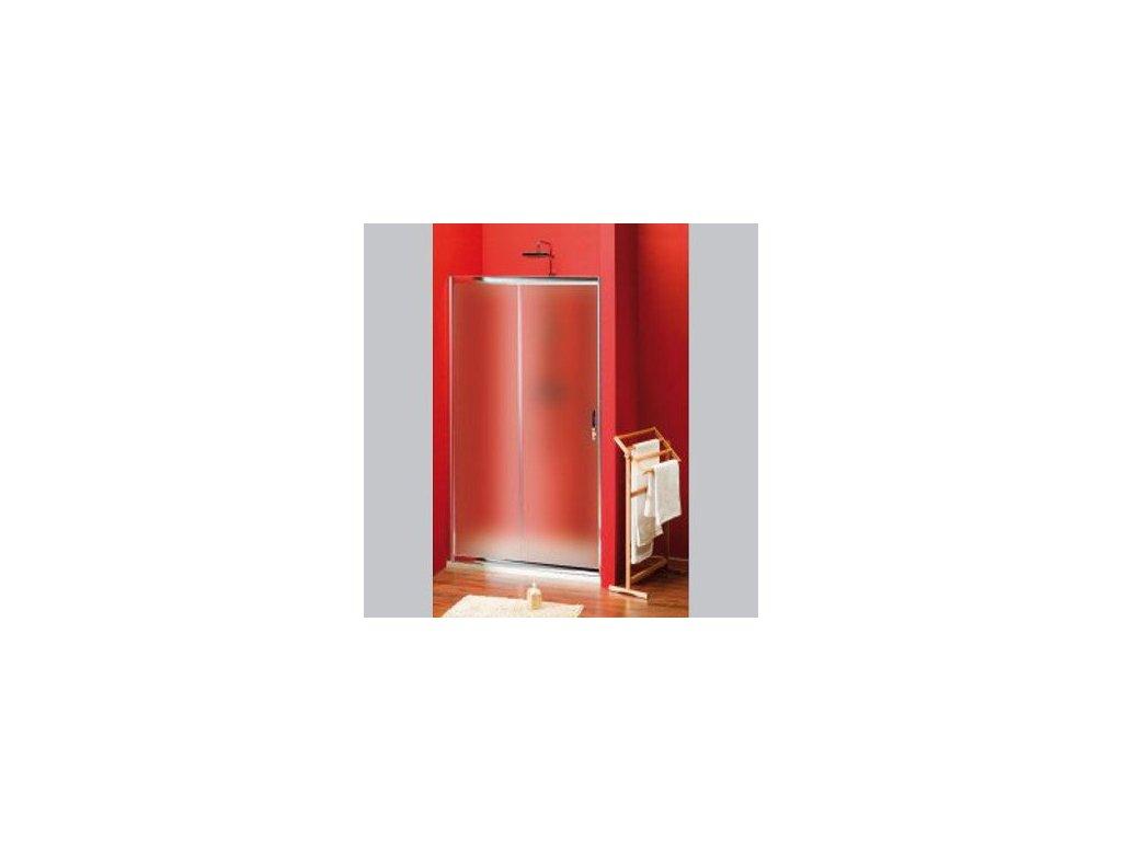 SIGMA sprchové dveře posuvné 1100 mm, sklo Brick