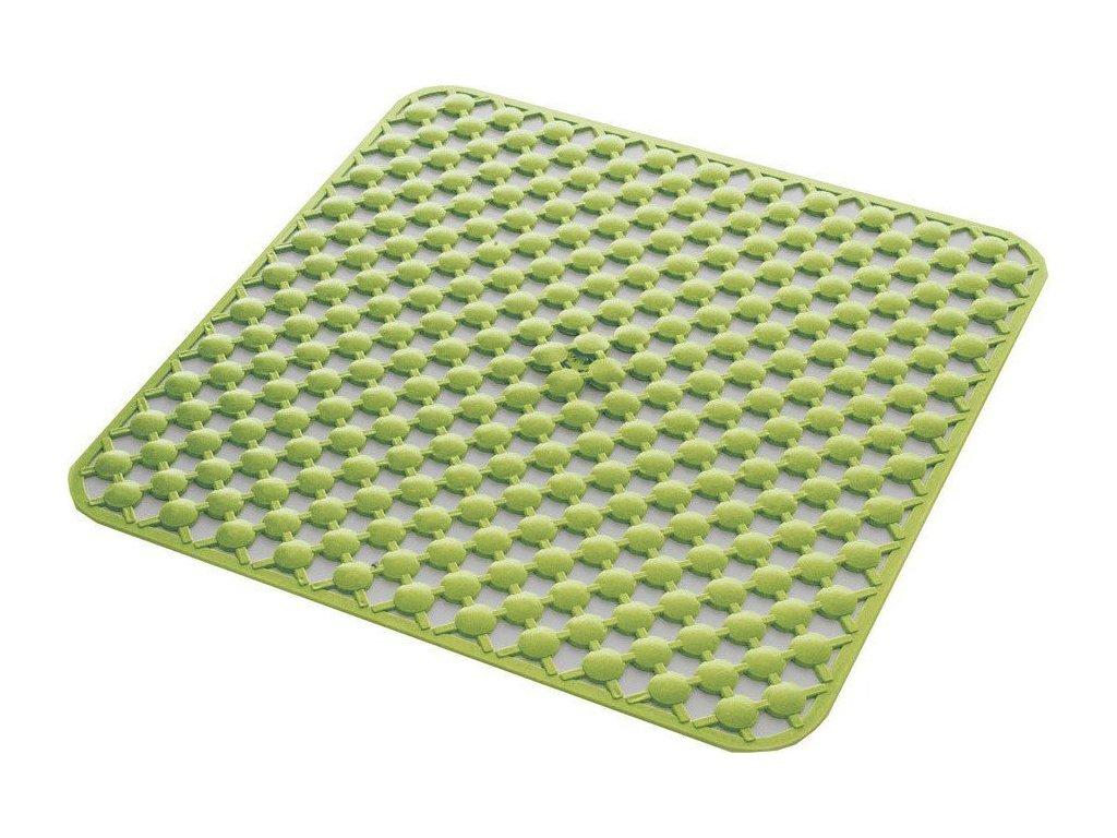 GEO podložka do sprchového koutu 53x53cm s protiskluzem, kaučuk, zelená