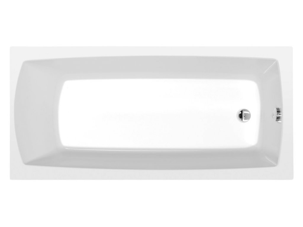 LILY obdélníková vana 140x70x39cm, bílá