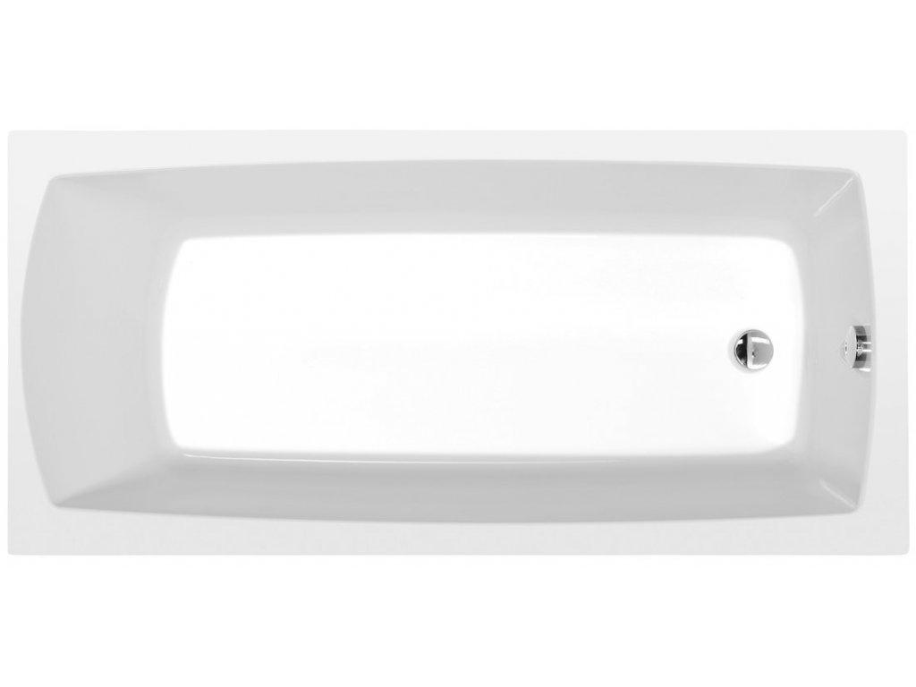 LILY obdélníková vana 150x70x39cm, bílá