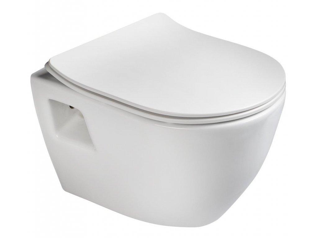 PAULA závěsná WC mísa, 35,5x50cm, bílá