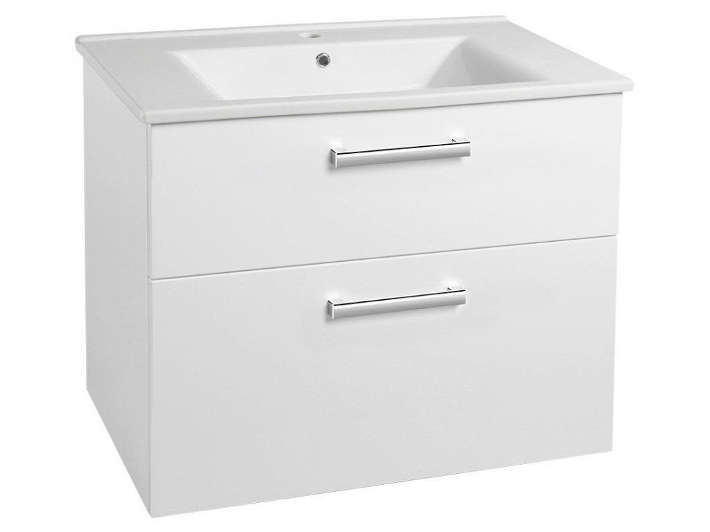 VEGA umyvadlová skříňka 82x67,6x43,8cm, 2xzásuvka, bílá