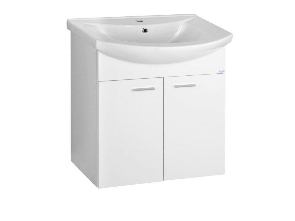 ZOJA umyvadlová skříňka 61,5x74x32cm, bílá, 2x dvířka