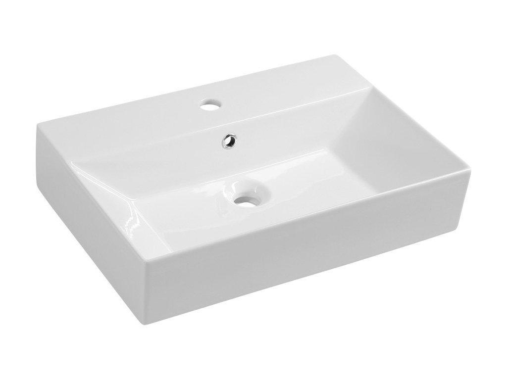 SISTEMA keramické umyvadlo 70x42cm, bílá