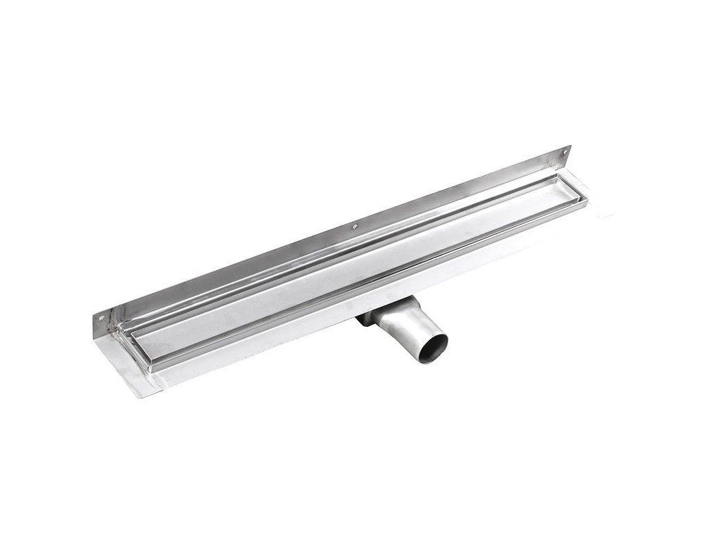 MANUS PIASTRA nerez sprchový kanálek s roštem pro dlažbu, ke zdi, 850x112x55 mm