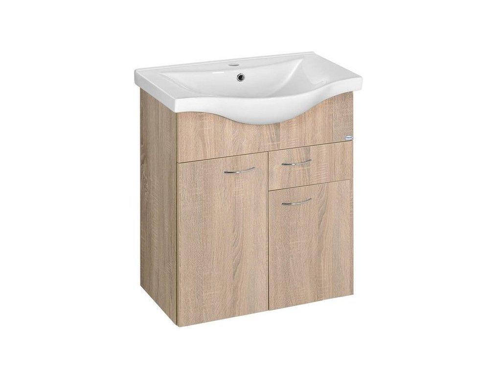 KERAMIA FRESH umyvadlová skříňka 60x74x33,7cm,dub platin