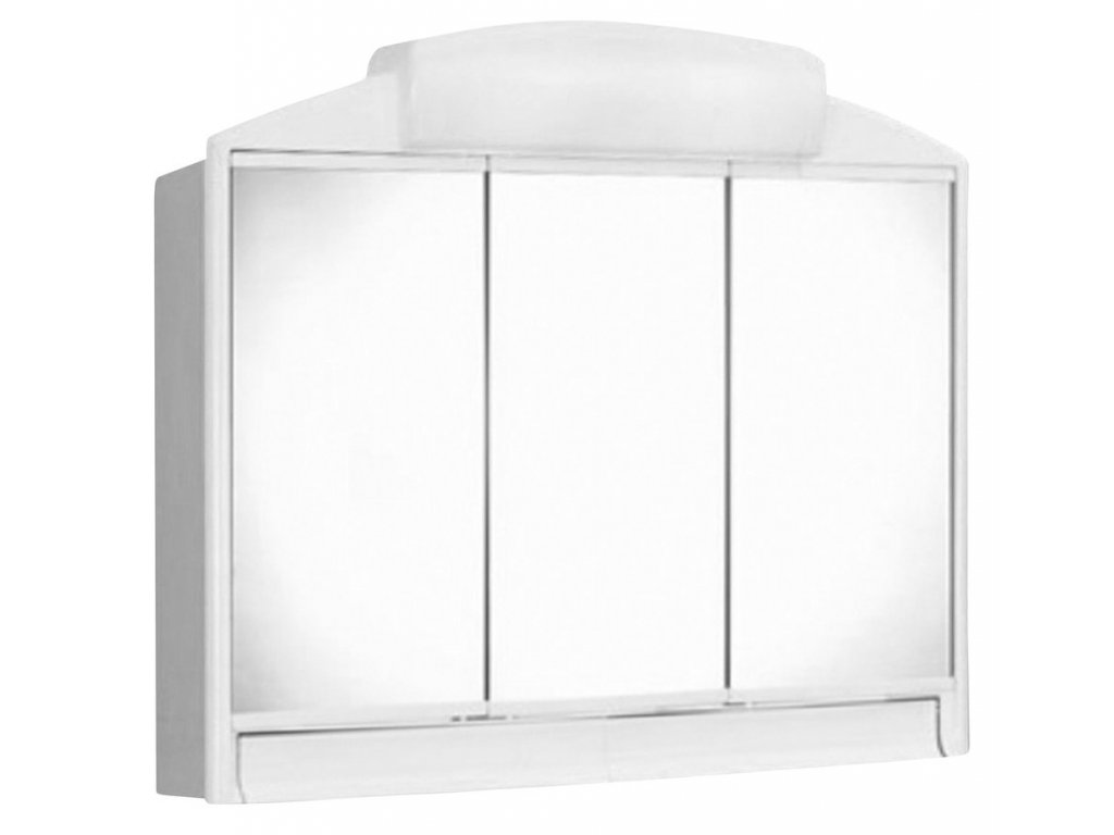 RANO galerka 59x51x16cm, 2xE14, 7-11W, bílá plast