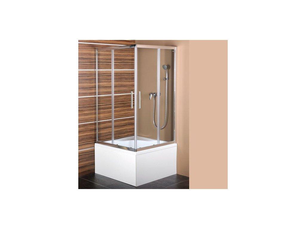CARMEN čtvercová sprchová zástěna 900x900x1500mm, čiré sklo
